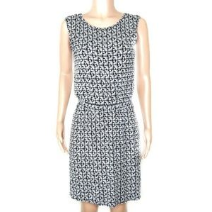 Athleta Black & White Patterned Flowy Midi Dress